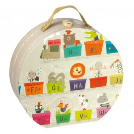 "Valisette ronde ""Train géant alphabet"" 27 pcs Janod"