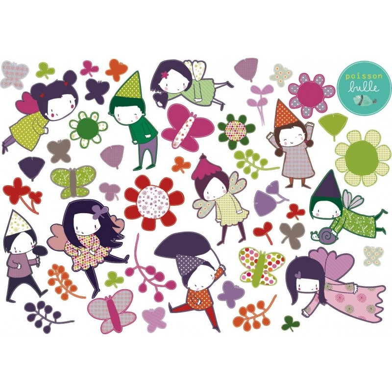 Stickers le jardin des f es - Jardin de fee ...