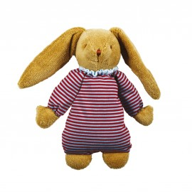 Lapin Musical Nid D'ange Rayure 25cm Trousselier