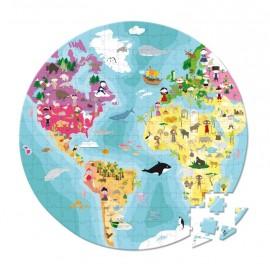 Valisette Ronde - Puzzle (Recto/Verso) Planète bleue 208 pcs Janod