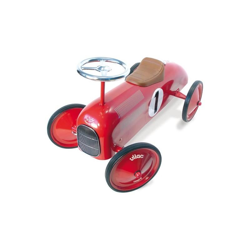 ma 1ere voiture porteur m tal rouge vilac. Black Bedroom Furniture Sets. Home Design Ideas
