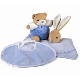 Coffret Cadeau Bleu Doudou+Bavoir+ Mini jouet Kaloo