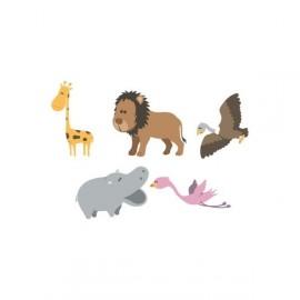 Stickers Enfants Version Hippo de la Savane