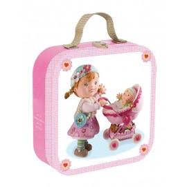 Puzzle Lisa joue à la poupée (Valisette Fleurus) Janod