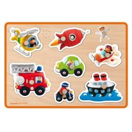 Puzzle Musical Transports(Fleurus) Janod