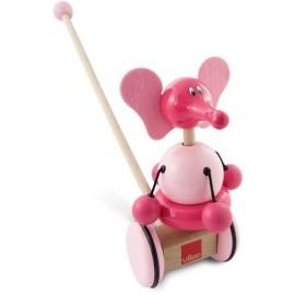Fanfan l'éléphant rose à pousser Vilac