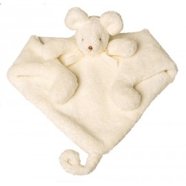 Doudou Triangle Souris ivoire Trousselier