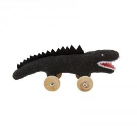 Crocodile à Roulettes Noir (16cm) Trousselier