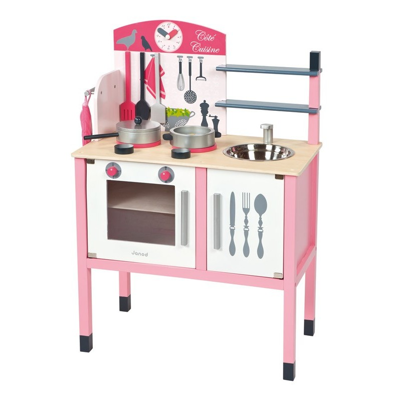 maxi cuisine mademoiselle janod cuisine enfant en bois. Black Bedroom Furniture Sets. Home Design Ideas