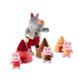 Marionnette Le Loup et les 3 petits Cochons Lilliputiens