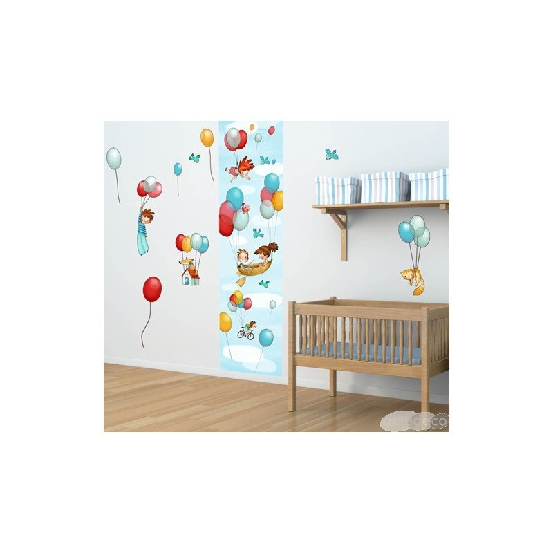 Stickers Planche Gar On Dans Les Airs D Coration Adh Sive Chambre D 39 Enfant