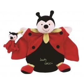 Doudou Marionnette Lady Coccinelle Doudou et Compagnie