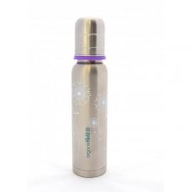 Biberon inox isotherme Organic Kidz Jolie fleur - 270ml