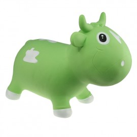Bella la vache sauteuse vert et blanc Kidzzfarm