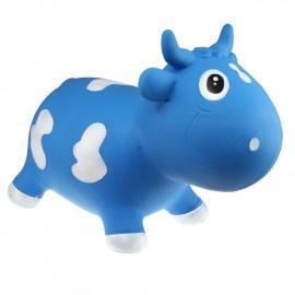 Bella la vache sauteuse bleu et blanc Kidzzfarm