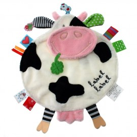 Doudou étiquette Vache blanche Friends Label Label