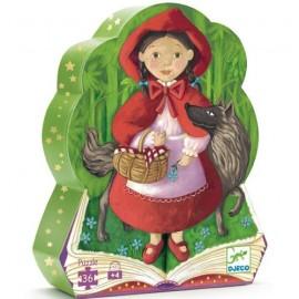 Puzzle silhouette Le petit chaperon rouge 36 pièces Djeco