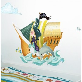Sticker Bateau de pirates