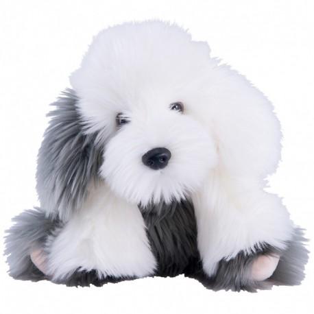 Peluche chien Bobtail blanc et gris (30cm) Histoire d'Ours