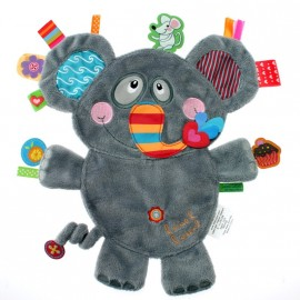 Doudou plat Eléphant Friends Label Label
