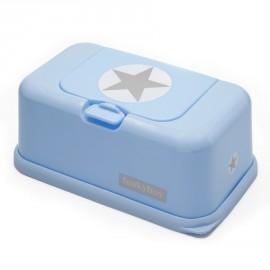 Funkybox Boites à lingettes Bleu étoile Grise
