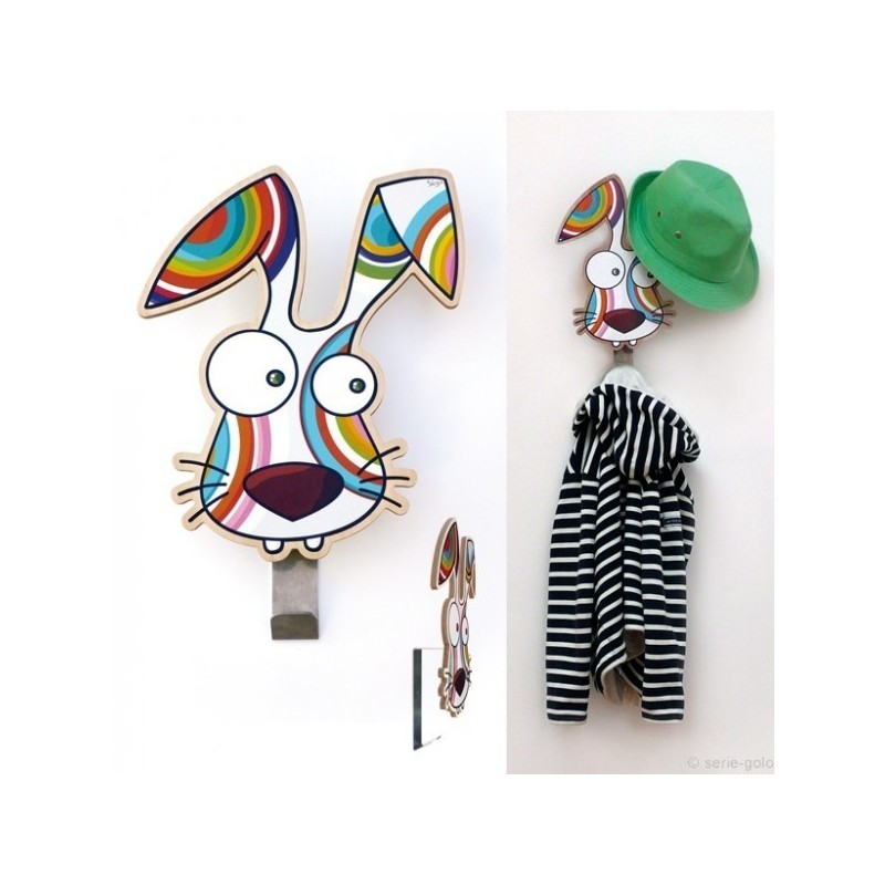 pat re lapin s rie golo porte manteau enfant original. Black Bedroom Furniture Sets. Home Design Ideas