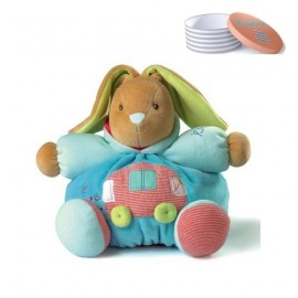 Doudou Lapin en Voiture Médium Collection Bliss de Kaloo