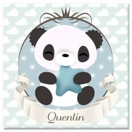 Tableau personnalisable Mon petit panda bleu