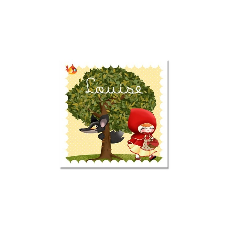 Tableau personnalisable enfant le petit chaperon rouge les - Tableau enfant personnalisable ...