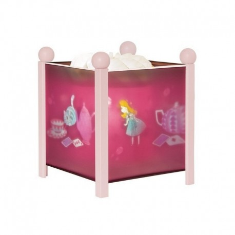 lanterne magique alice au pays des merveilles rose. Black Bedroom Furniture Sets. Home Design Ideas