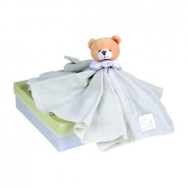 Doudou l'Ange ours lin grand modèle Doudou et Compagnie