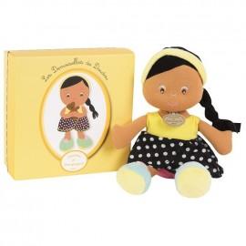 Les demoiselles de doudou poupée jaune Doudou et Compagnie