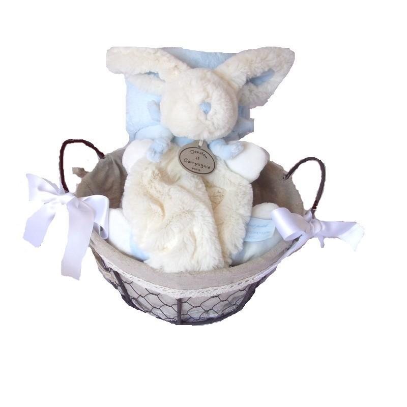 Panier Cadeau Bonbon : Panier de naissance bonbon bleu cadeau b?b?