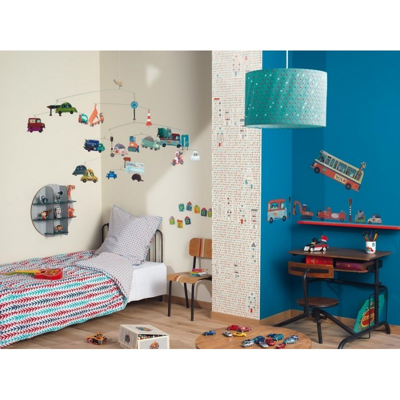 Stickers chambre gar on v hicules djeco for Stickers deco chambre garcon
