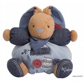 Doudou lapin tout doux Blue Denim Kaloo