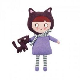 Poupée Ninon avec son petit Chat par trousselier