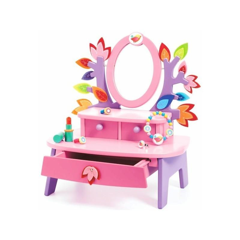 coiffeuse birdy jouet en bois djeco jouet d 39 imitation pour filles. Black Bedroom Furniture Sets. Home Design Ideas