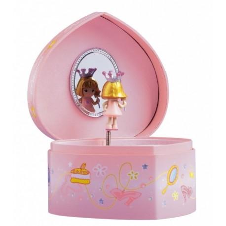 boite bijoux musicale coeur de princesse boite a bijoux princesse. Black Bedroom Furniture Sets. Home Design Ideas