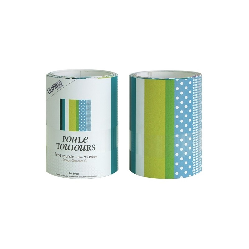 Frise Adhesive Turquoise : Frise murale chambre d enfant making tape bleu lilipinso