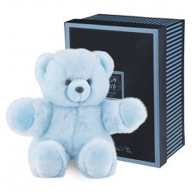 Peluche Ours bleu prestige layette (40cm) Histoire d'Ours