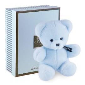 Peluche Ours bleu Baby coffret (25cm) Histoire d'Ours