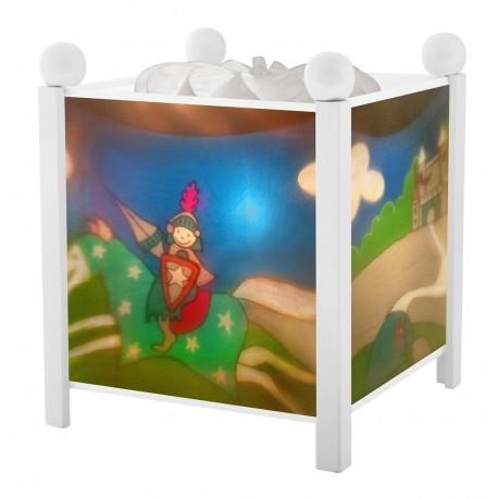 lanterne magique chevalier dragon blanc trousselier. Black Bedroom Furniture Sets. Home Design Ideas
