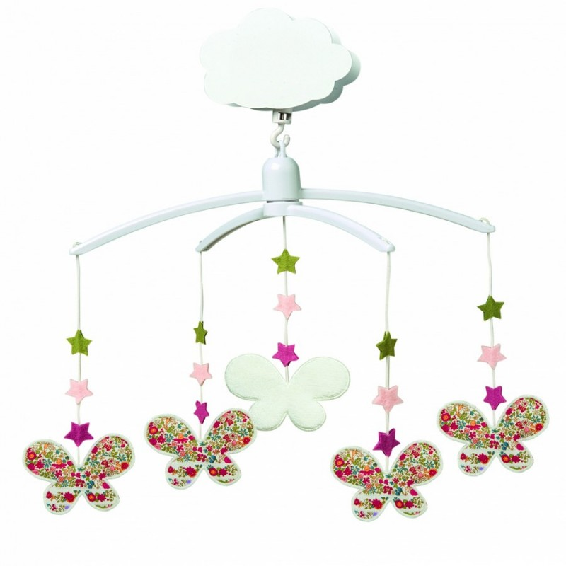 Mobile musical b b papillons trousselier - Mobile musical bebe fille ...
