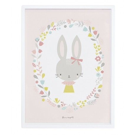 affiche d corative lapin fille pour d corer une chambre d 39 enfant. Black Bedroom Furniture Sets. Home Design Ideas