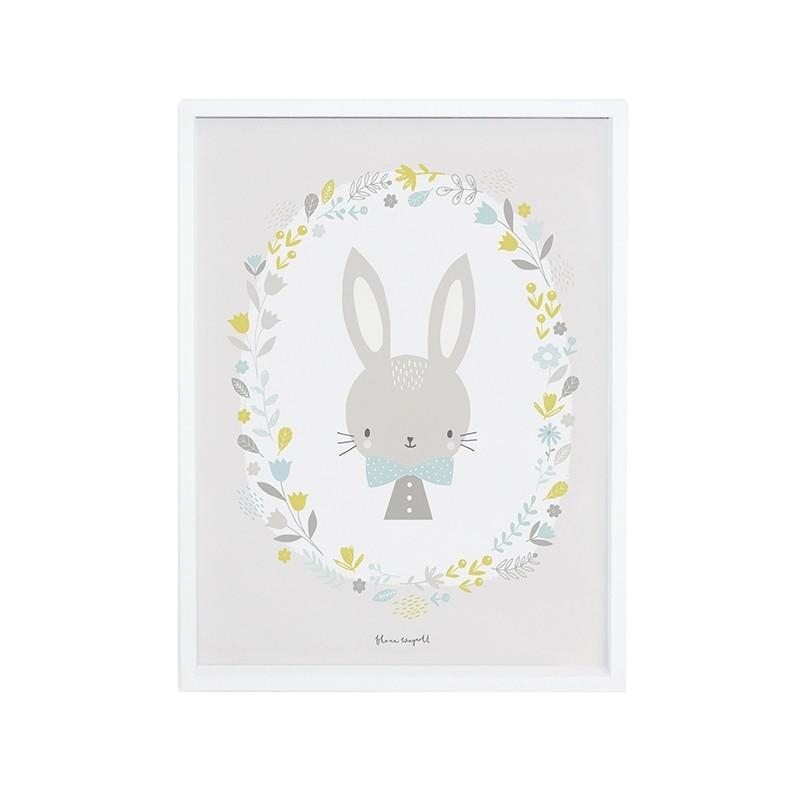 affiche de chambre d39enfant lapin garcon lilipinso With affiche chambre bébé avec box pour fleur