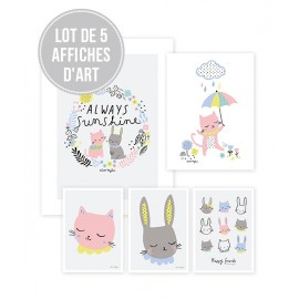 Lot affiches Chat Lilipinso