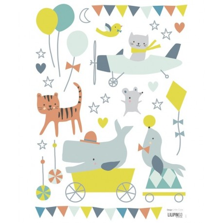 Stickers animaux gar on lilipinso pour d corer la chambre for Stickers animaux chambre bebe