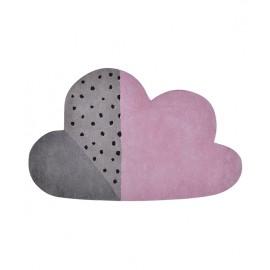 Tapis Forme Nuage rose et gris