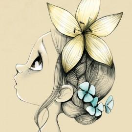 Tableau enfant Wild girl 02
