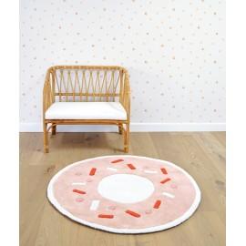 Tapis forme donuts orange pastel